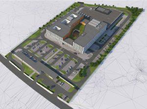 Budynek biurowo-administracyjny z urządzeniami infrastruktury technicznej