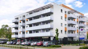 Zespół budynków mieszkalnych z usługami przy ul. Korkowej